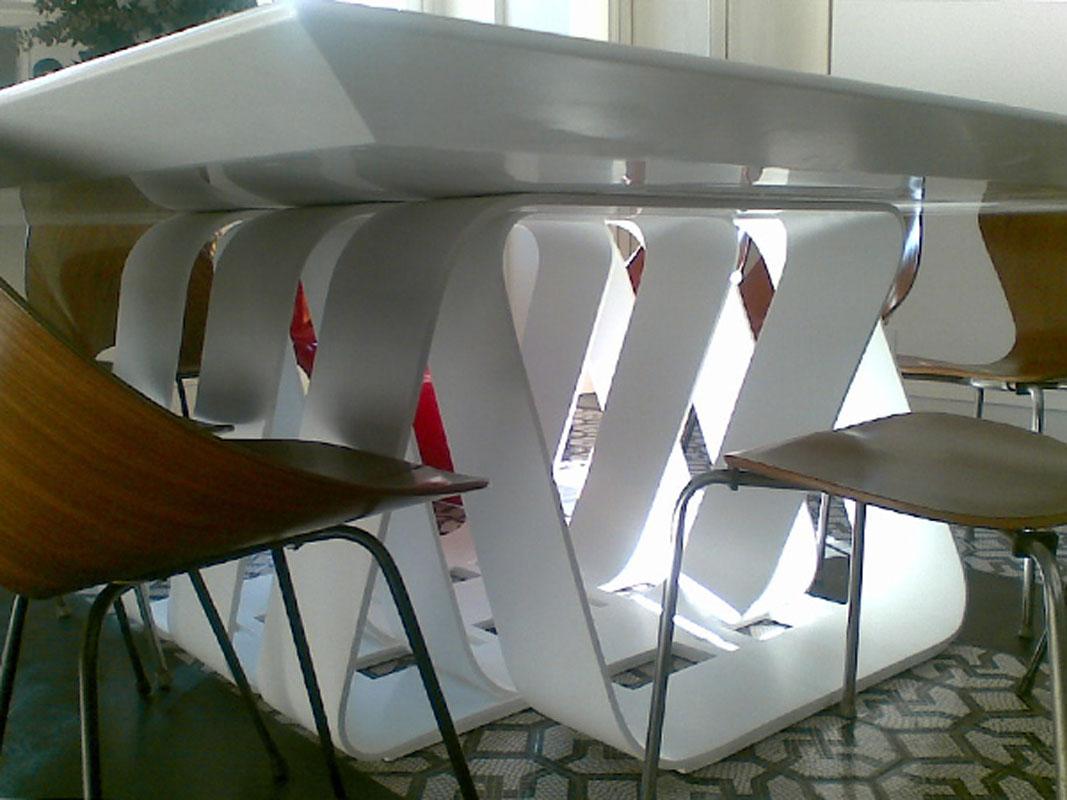 Bookshelf and table design by Annalisa Mauri